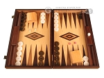 Walnut Root Backgammon Set - Large - Oak Field
