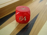 1 3/8 in. Backgammon Doubling Cube - Red Marbleized