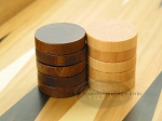 Backgammon Checkers - Wood - Flat (1 1/4in Dia.) - Set of 30