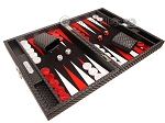 Hector Saxe Cosmos Linen Travel Backgammon Set - Black