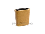 Leatherette Backgammon Dice Cup - Oval - Beige