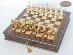 Modern Italian Staunton Chessmen with Italian Chess Board with Storage [Small]