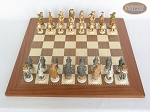 Jungle Life Chessmen with Spanish Traditional Chess Board [Extra Large]