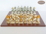 The Battle of Kazan Chessmen with Spanish Traditional Chess Board [Large]