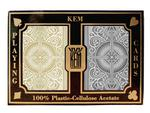 Kem Arrow Black/Gold Wide Cards - Double Deck