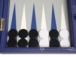 13-inch Premium Backgammon Set - Indigo Blue