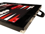 Wycliffe Brothers® Tournament Backgammon Set - Black Croco with Black Field - Gen III