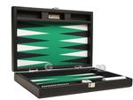 13-inch Premium Backgammon Set - Black with White and Black Points