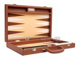 16-inch Premium Backgammon Set - Desert Brown
