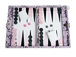 Hector Saxe Python Leather Travel Backgammon Set - Parma