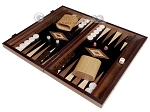 15-inch Ebony Zebrano Backgammon Set - Black Field