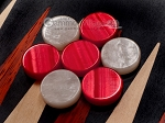 15-inch Padauk Backgammon Set - Black Field