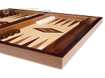 15-inch Zebrano Backgammon Set - Oak Field