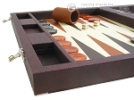Dal Negro Eco Leather Backgammon Set - Brown