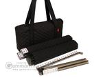 Soft-Sided American Mah Jongg Set by Linda Li™ with White Tiles and Modern Pushers - Black Soft Bag