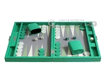 Hector Saxe Faux Lizard Travel Backgammon Set - Anise Green