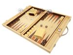 15-inch Wood Backgammon Set - Oak