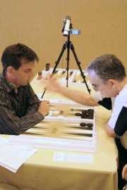 Achim Mueller vs. Ed OLaughlin - 2008 World Backgammon Championships - Super Jackpot - Game 1 by GNU Backgammon